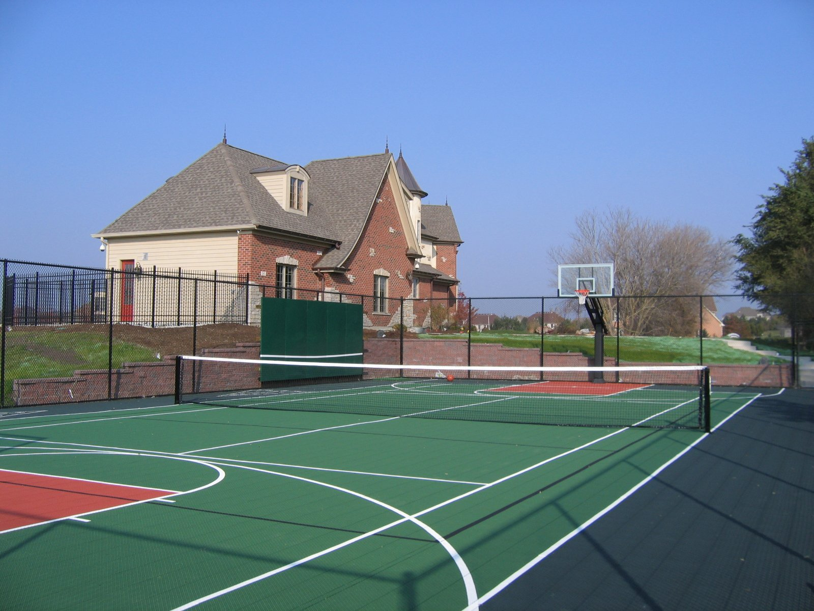 Multi game courts kcr enterprises llc for How to build a half court basketball court