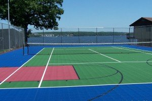tennis court after