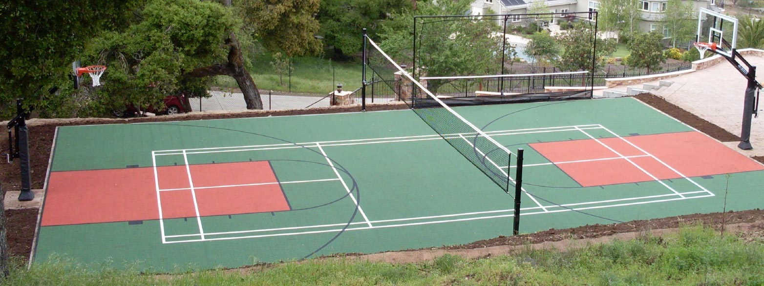 Kcr enterprises llc athletic court construction and for How to build a sport court