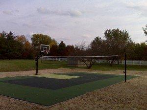 Half Court Basketball mutli-game court